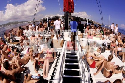 Pukka Up Friday Daytime VIP Boat Party From Ibiza Town